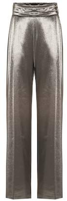 Max Mara Albina stretch silk high-rise pants