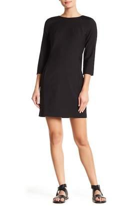 Theory Rikala 3/4 Length Sleeve Wool Blend Dress