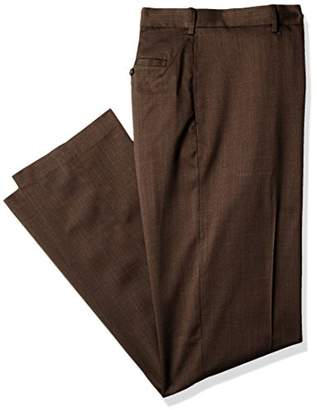 Savane Men's Big and Tall Flat Front Stretch Crosshatch Dress Pant