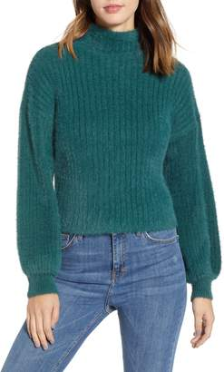 Prima Ribbed Mock Neck Sweater