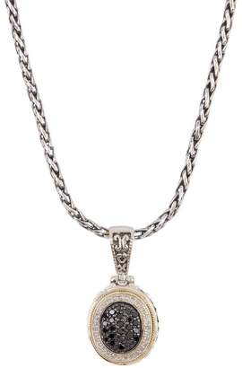 Effy Sterling Silver & 18K Yellow Gold Two-Tone Diamond Pave Pendant Necklace - 0.54 ctw