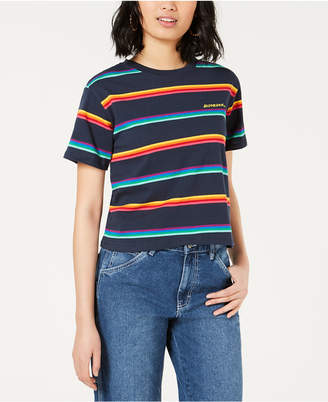 Dickies Cotton Rainbow Striped Tomboy T-Shirt