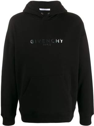Givenchy iridescent printed logo hoodie