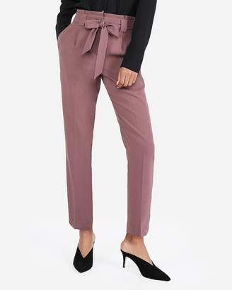 Express High Waisted Sash Waist Ankle Pant