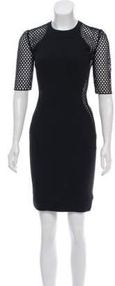 Stella McCartney Mesh-Trimmed Mini Dress
