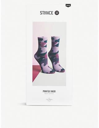 Stance Aphrodite camouflage-print sheer ankle socks