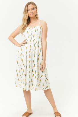 Forever 21 Pineapple Print Fit & Flare Dress