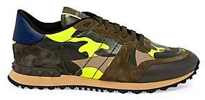 Valentino Men's Rockrunner Camouflage Sneakers