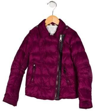 Burberry Girls' Mock Neck Down Jacket