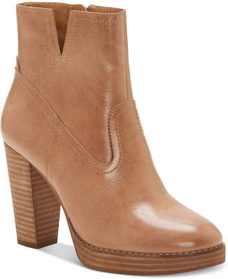 Lucky Brand Women Quintei Leather Booties Women Shoes