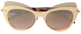 Pomellato Eyewear oversized cat eye sunglasses