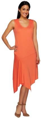G.I.L.I. Got It Love It G.I.L.I. Sleeveless Asymmetric Hem Knit Dress with V-neck