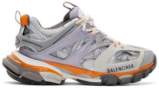 Balenciaga (バレンシアガ) - Balenciaga グレー and パープル トラック スニーカー