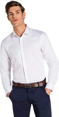yd. WHITE GARRICK SLIM FIT SHIRT