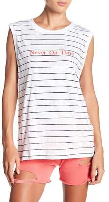 Wildfox Couture Distressed Sleeveless Muscle Tee