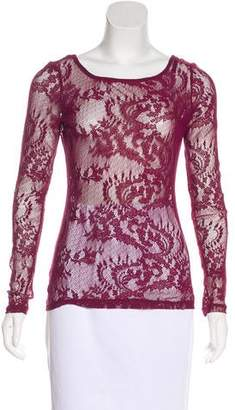 Ella Moss Sheer Lace Top