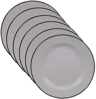 Certified International Enamelware - Cream 6-Pc. Dinner Plate