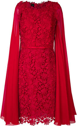 Giambattista Valli floral lace cape dress