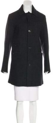 Billy Reid Wool Plaid Coat