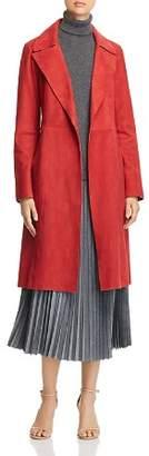Lafayette 148 New York Prim Suede Trench Coat