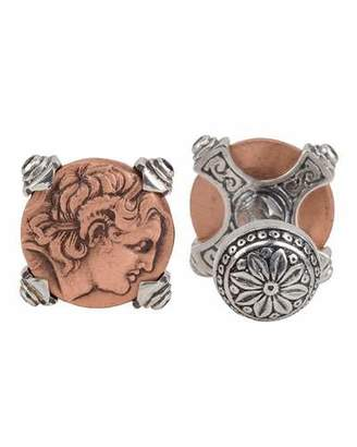 Konstantino Men's Sterling Silver & Copper Alexander the Great Cuff Links w/Spinel Insets $400 thestylecure.com