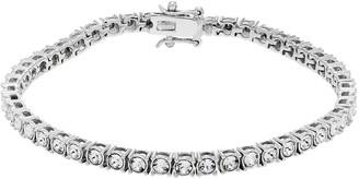 Diamond Splendor Sterling Silver Crystal Tennis Bracelet