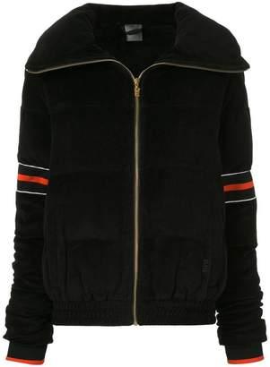 P.E Nation stripe detail zipped jacket