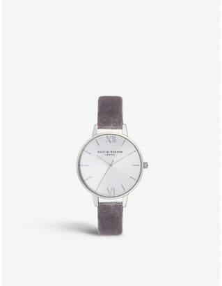Olivia Burton OB16DE04 Sunray Demi stainless steel and velvet strap watch