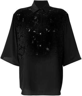Valentino lace panel oversized blouse