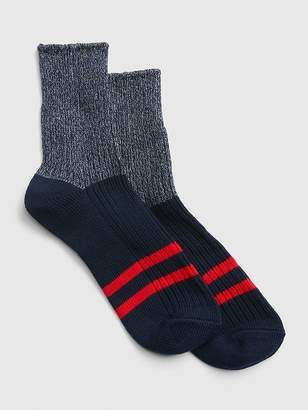 Gap Rugby Stripe Colorblock Half Boot Socks