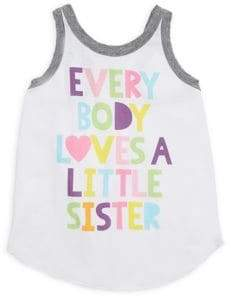Chaser Little Girl's & Girl's Everybody Loves A Little Sister Tank Top
