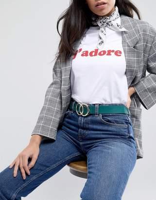 Miss Selfridge Exclsuive Double Ring Belt
