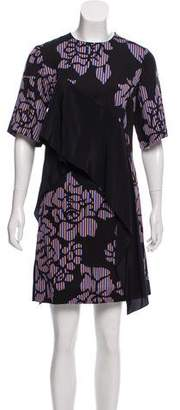 Diane von Furstenberg Printed Ruffle-Accented Dress