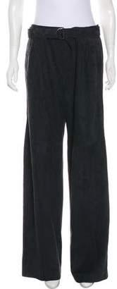 Brunello Cucinelli Suede High-Rise Pants w/ Tags