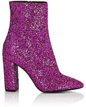 Saint Laurent Women's Loulou Glitter Ankle Boots