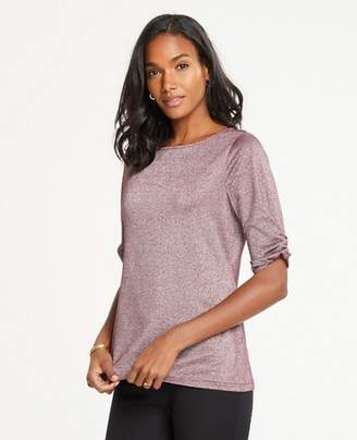 Ann Taylor Shimmer Knot Sleeve Top