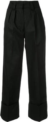 MSGM pleated cuffed trousers