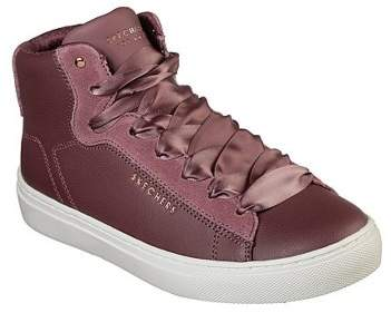 Skechers Women's Side Street High Satin Memory Foam High Top Sneaker