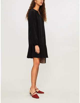 Diane von Furstenberg Dropped-waist silk-crepe dress