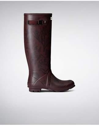 Hunter Womens Norris Field Printed Rain Boots