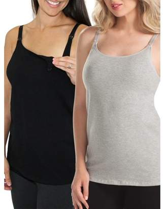 Loving Moments by Leading Lady Maternity Nursing Cami with Built-In Shelf Bra, 2 Pack