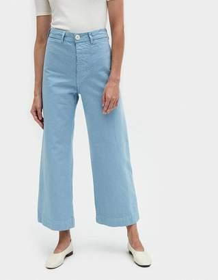 Jesse Kamm Sailor Pant in Piscine Blue