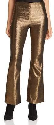 Alice + Olivia Kylyn Metallic Flared Pants