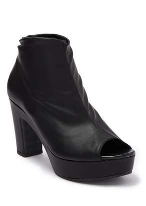 Cordani Tyra Leather Peep Toe Block Heel Bootie
