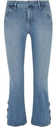 Le Crop Mini Mid-Rise Bootcut Jeans