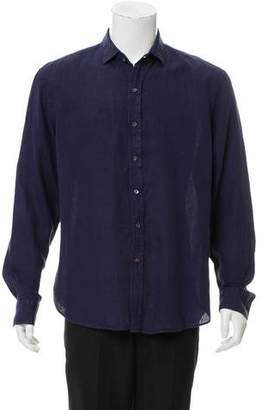 Ralph Lauren Black Label Linen Button -Up Woven
