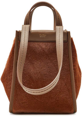Max Mara Amanzia Fur and Leather Bag