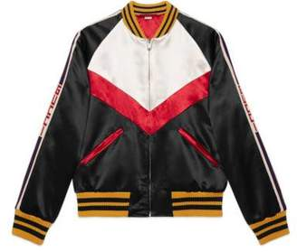 Gucci Chevron acetate bomber jacket