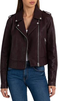 Bagatelle Pebbled Faux-Leather Biker Jacket
