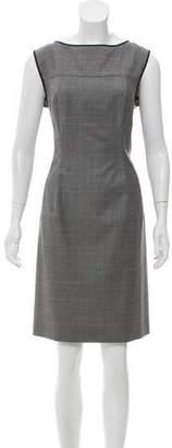 Narciso Rodriguez Wool Plaid Dress